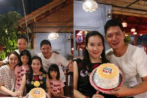 Bà xã Bình Minh cười tít mắt khi được chồng tổ chức sinh nhật lãng mạn tại Phú Quốc