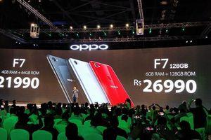 Oppo F7 ra mắt: Màn hình tai thỏ, camera AI selfie 25MP, nhận diện khuôn mặt, giá 339 USD