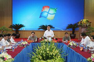 Chủ tịch UBND TP Hà Nội Nguyễn Đức Chung làm việc với huyện Chương Mỹ