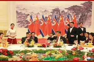 Cận cảnh tiệc chiêu đãi ông Kim Jong-Un tại Trung Quốc