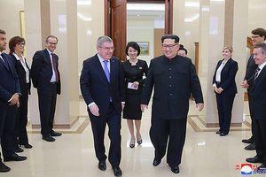 Ông Kim Jong-un trực tiếp đón Chủ tịch Ủy ban Olympic Quốc tế