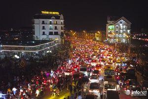 Tam Đảo ùn tắc nghiêm trọng sau lễ hội hoa đăng Tây Thiên