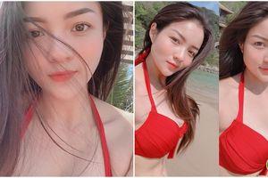 'Bạn thân' Hoàng Thùy Linh khoe ảnh bikini rực lửa đầu hè