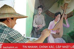 Độc đáo con đường bích họa ở khu dân cư mẫu của Hà Tĩnh