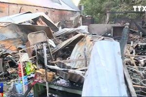 Cháy chợ làm thiệt hại 5 căn nhà tại Kiên Giang