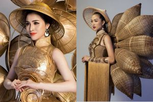 Trang phục truyền thống của đại diện Việt ở Miss Eco International gây tranh cãi vì giống quốc phục của Lệ Hằng