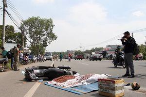 Điều tra vụ xe container tông chết một người nước ngoài rồi bỏ trốn
