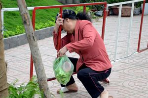 Chui luồn hàng rào ra vào khu đô thị cao cấp mới nổi ở Hà Nội