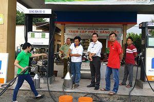 Phát hiện sai phạm tại cửa hàng bán lẻ xăng dầu Châu Thành 9