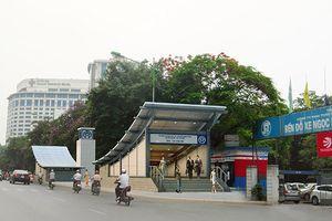 Phân làn giao thông để xây nhà ga đường sắt đô thị Nhổn-ga Hà Nội