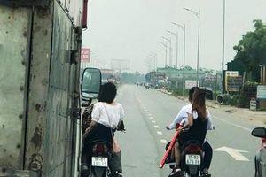 Triệu tập nhóm đầu trần đi xe máy dàn hàng ngang chặn ôtô trên quốc lộ