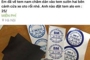 Dịch vụ bán tem nam châm cho tài xế Uber, Grab nở rộ