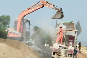 Đẩy mạnh thi công tuyến đường đê Tả Lam để bảo vệ hơn 100 nghìn dân