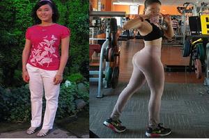 Cô gái Sài thành trở nên nóng bỏng khó tin nhờ gym dù nặng tới 62kg