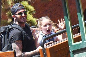 Vợ chồng Beckham dẫn các con đi chơi Disneyland