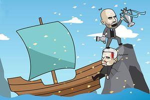 Hí họa Mourinho đổ máu cũng không thể cản Guardiola nâng cúp