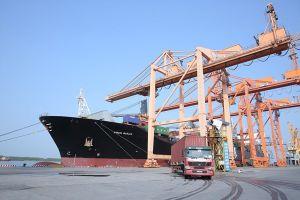 Cảng Hải Phòng đón tàu lớn nhất từ trước đến nay vào làm hàng