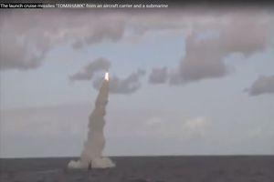 Cận cảnh tàu ngầm Mỹ nã Tomahawk từ Địa Trung Hải tấn công Syria