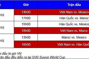 Lịch thi đấu giải Suwon JS Cup 2018, danh sách cầu thủ đội tuyển U19 Việt Nam