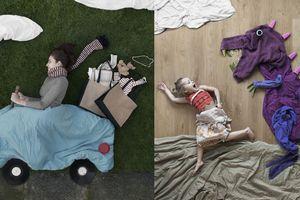 Bộ ảnh siêu sáng tạo đưa con 'ngao du vòng quanh thế giới' chỉ từ vật dụng trong nhà