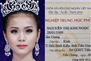 Cận cảnh bằng tốt nghiệp THPT của tân HH Biển Việt Nam toàn cầu 2018