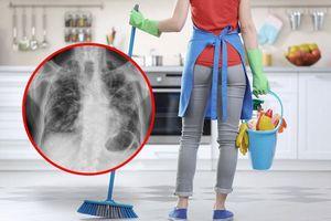 Dọn nhà cửa tác hại tương đương hút 20 điếu thuốc/ngày với phụ nữ, đàn ông không bị ảnh hưởng