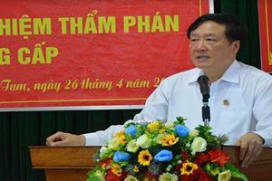 TAND tỉnh Kon Tum trao quyết định bổ nhiệm Thẩm phán và các chức danh lãnh đạo cấp huyện