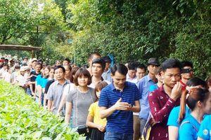 Hàng vạn du khách đổ về thăm quê Bác, đường vào Khu di tích Kim Liên tắc kéo dài