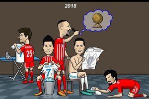Biếm họa 24h: Real 'mua chuộc' thủ môn Ulreich, Ronaldo mơ bóng vàng