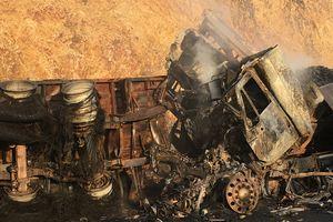 Hai xe container đâm nhau và bốc cháy: Phát hiện thêm một nạn nhân tử vong
