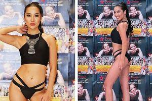 Tình cũ Kim Lý mặc bikini nóng bỏng nổi bật trên báo Hàn