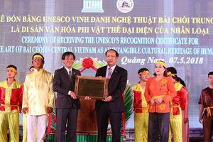 Quảng Nam đón bằng của UNESCO ghi danh nghệ thuật Bài Chòi