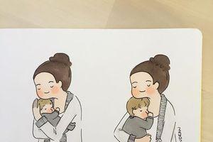 Ai cũng muốn trở thành 'mẹ bỉm sữa' sau khi xem bộ tranh này
