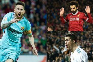 Cuộc đua 'Chiếc giày Vàng' châu Âu: Salah hụt hơi trước Messi