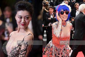 Những mỹ nhân khoe ngực, 'chiêu trò' phản cảm trên thảm đỏ Cannes