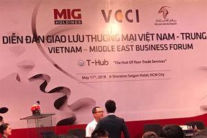 Thúc đẩy hợp tác thương mại Việt Nam và Trung Đông
