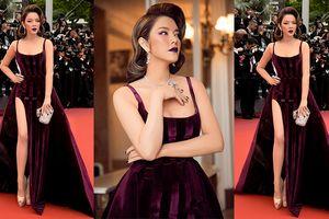 Thảm đỏ Cannes ngày 3: Lý Nhã Kỳ quý phái trong sắc màu 'oải hương'