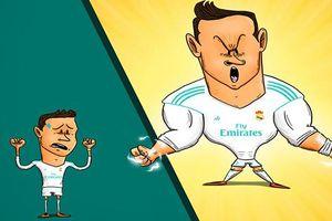 Biếm họa 24h: Cristiano Ronaldo không thể ngừng ghi bàn trong năm 2018