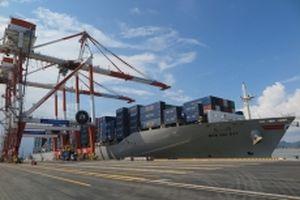 Cảng container quốc tế Hải Phòng đón chuyến tàu đầu tiên