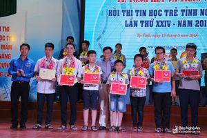 Danh sách học sinh đạt giải cao tại Hội thi tin học trẻ Nghệ An lần thứ 24 năm 2018