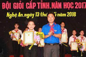 Trường THCS Bến Thủy giành giải Nhất Hội thi Chỉ huy Đội giỏi cấp tỉnh