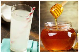 Cơ thể thay đổi rõ rệt khi uống nước dừa pha mật mỗi sáng