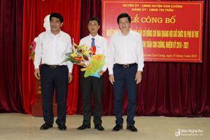 Trao quyết định bổ nhiệm Chủ tịch UBND thị trấn Con Cuông