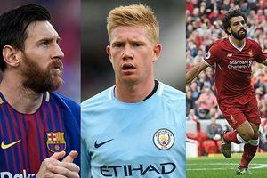 Bảng xếp hạng 10 cầu thủ xuất sắc nhất châu Âu 2017/2018