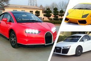 Xe nhái Bugatti Chiron, Lamborghini tràn lan tại Trung Quốc