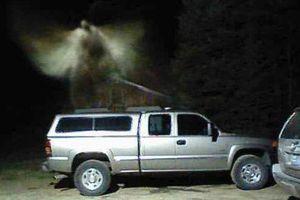 Bức ảnh 'thiên thần lơ lửng' trên xe gây xôn xao