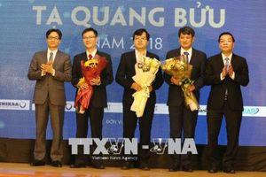 Ba nhà khoa học được trao Giải thưởng Tạ Quang Bửu năm 2018