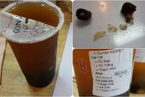 Lại xôn xao nghi vấn trà sữa Gong Cha có 'dị vật'?