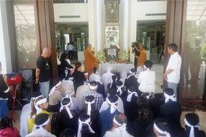 Tối 19.3, di quan linh cữu cố Thủ tướng Phan Văn Khải đến Hội trường Thống Nhất