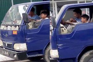 Ủy ban ATGT Quốc gia yêu cầu xác minh bé trai 10 tuổi điều khiển xe tải
